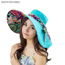 Double-sided Women Hat Lady Wide Brim Sun Spring Summer For Female UV Protection Beach Casual Chapeau Femme