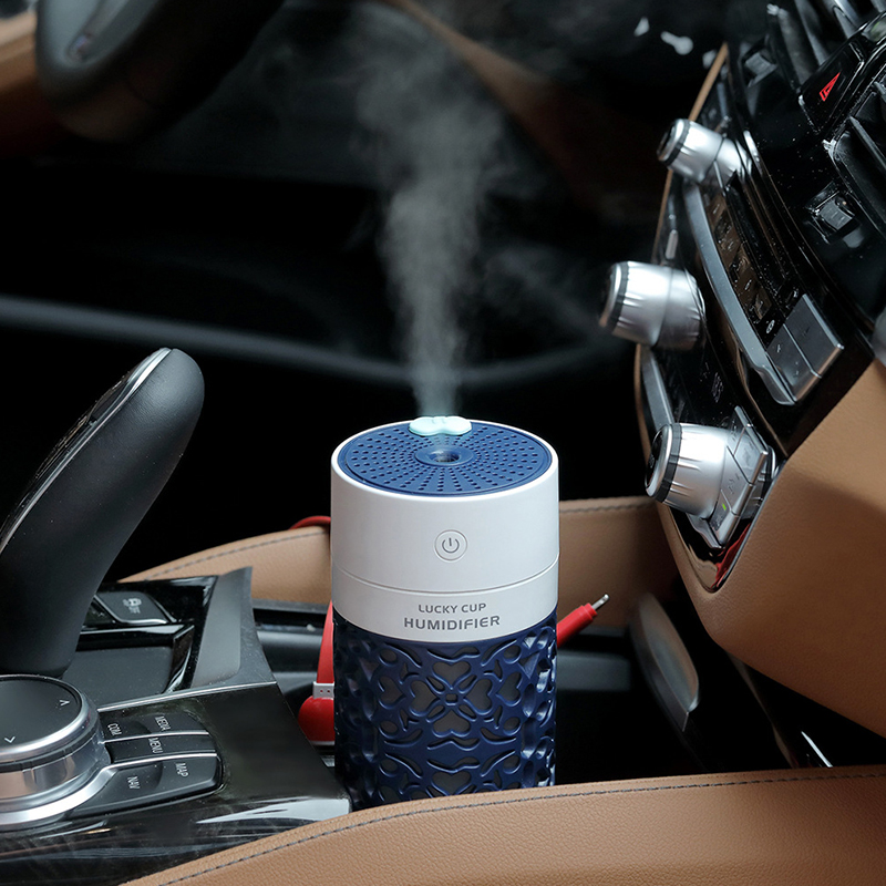 Lucky Cup Mini Air Humidifier Ultrasonic Aromatherapy Diffuser Three In One Lamp Fan Humidifier Usb For Car Room in Humidifiers from Home Appliances