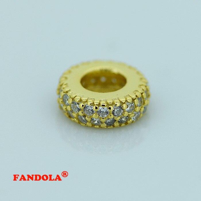 Convient aux bracelets à breloques Pandora perles entretoises abstraites avec 14 K or véritable 925 bijoux en argent Sterling livraison gratuite