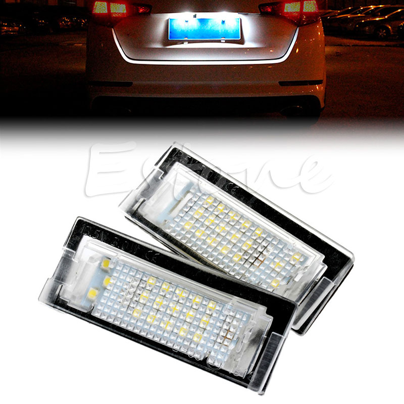 2x Error Free LED Number License Plate Light For BMW E39 5D 5 Door Wagon Touring C45 free shipping 2x error free white led license plate light for alfa romeo 147 156 159 166 brera spider gt mito