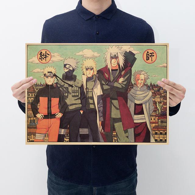 Naruto Kraft Paper Poster Painting