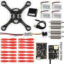 JMT DIY FPV Racing Drone Parts 100mm CF Frame Kit +1S 3.7V 8520 Motor +60mm Props+Camera+ CC3D Flight Control+FD800 Receiver PPM