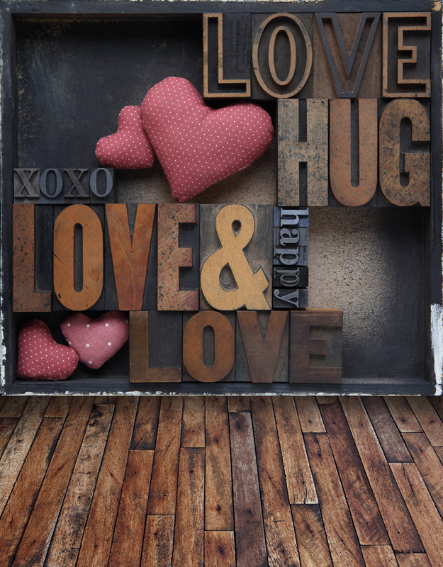 love hug happy vintage wall paints wood floor backdrop outlet background  for baby photo props camera photography studio digital - Wood Floor Outlet Promotion-Shop For Promotional Wood Floor Outlet