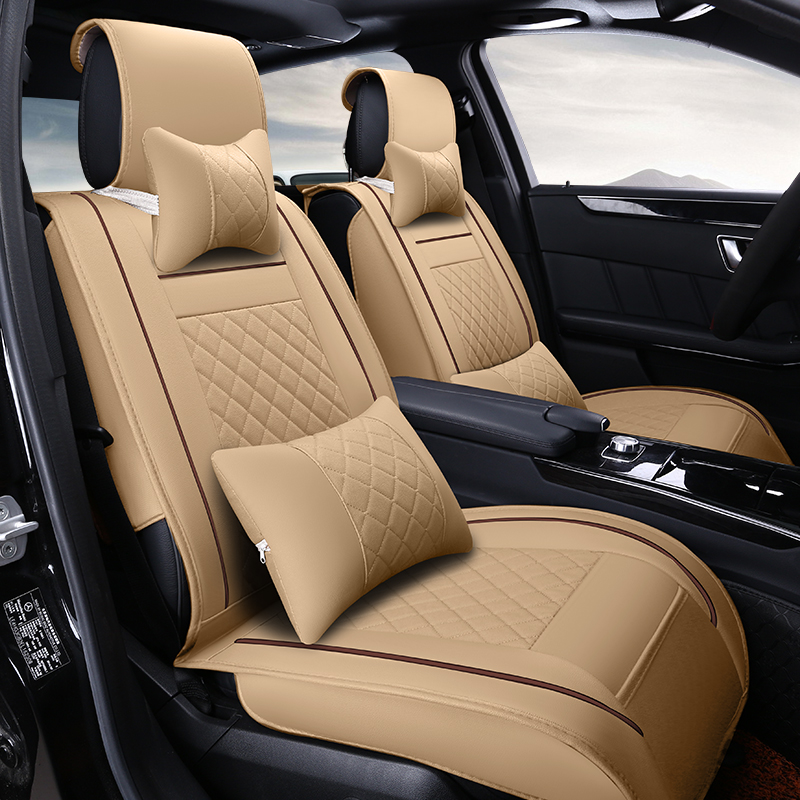(Front +Rear) High quality leather car seat cushion universal seat Covers for kia  rio ceed  sportage 3 2016  car accessories wear resisting waterproof pu leather car seat covers for kia rio sportage suzuki grand vitara universal front rear full seats