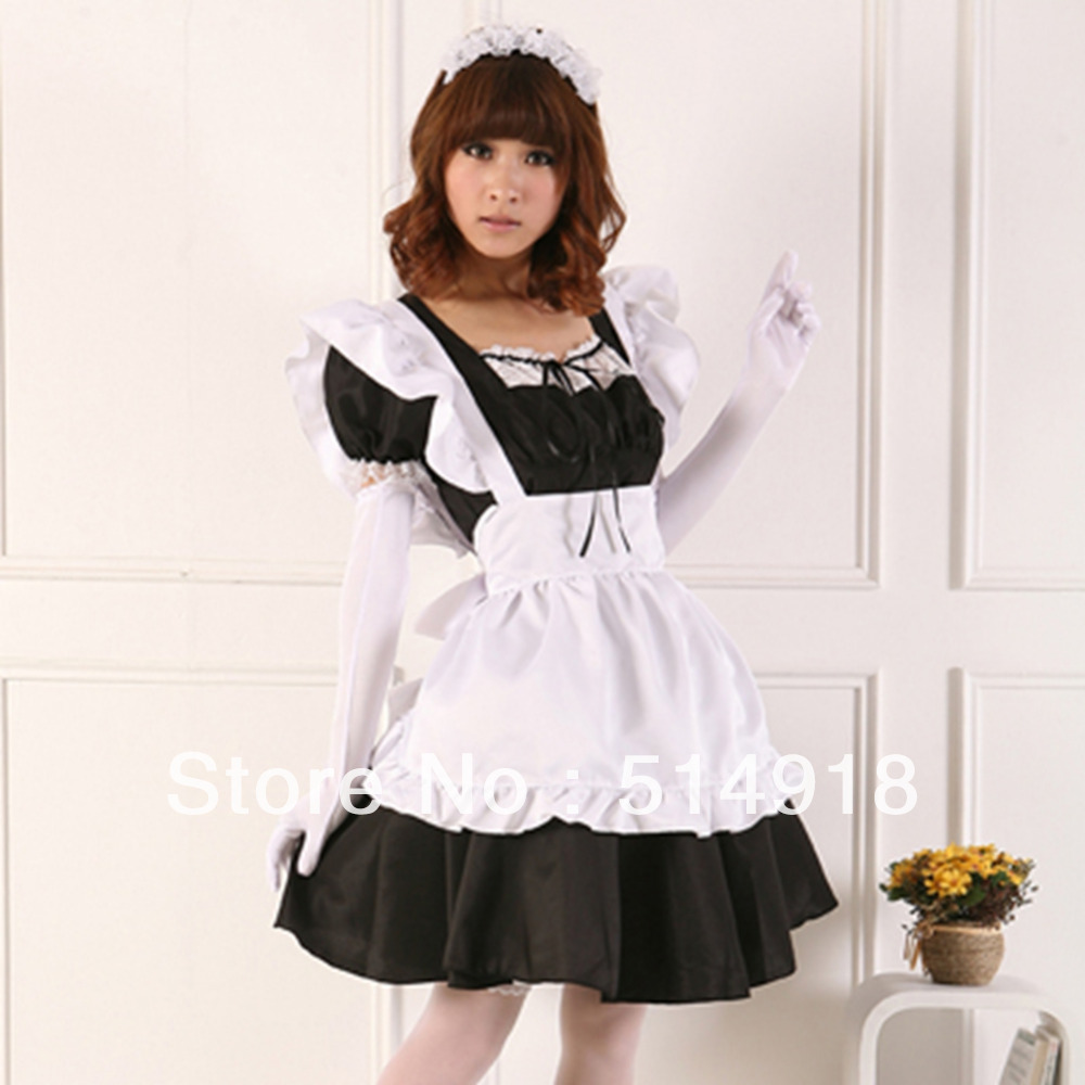White apron cafe - Aliexpress Com Buy Tomsuit Classic Black And White Pretty Japanese Anime Cosplay French Apron Maid Costumes Cafe Maid Outfit For Halloween From Reliable