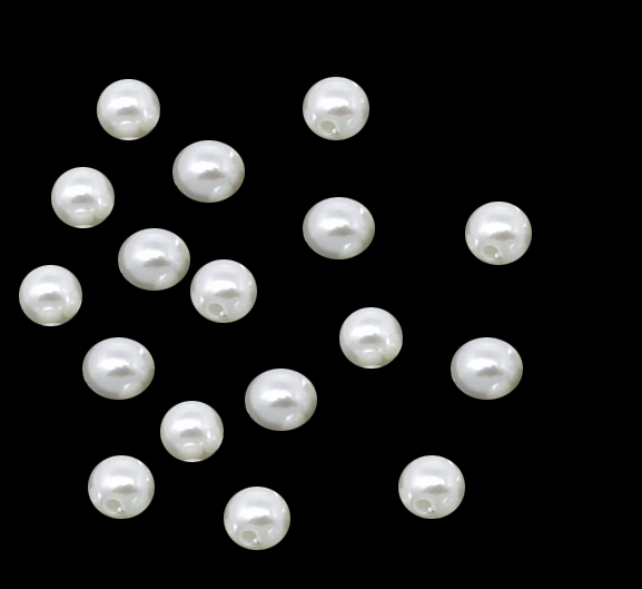 175e71b1d645 ∞1000 unids pack 4mm marfil perla del ABS del arte del color ...