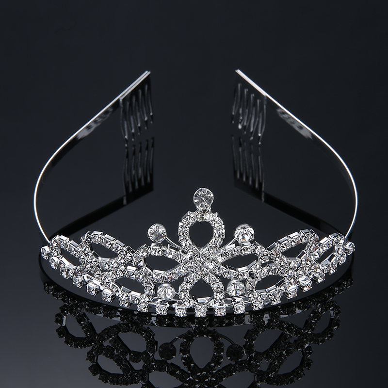 4 Style Wedding Bridal Tiara Crown Couronne Crystal Rhinestone Party Diadem Jewelry Hair Comb Crowns Hairwear