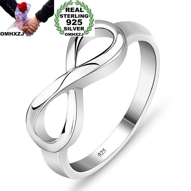 Omhxzj Großhandel Europäischen Mode Frau Mädchen Party Hochzeit Geschenk Silber Glück 8 925 Sterling Silber Ring Rr201 Auf Der Ganzen Welt Verteilt Werden Edler Schmuck