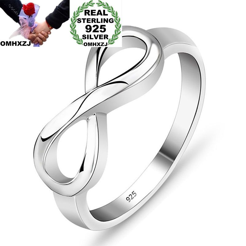 OMHXZJ Wholesale European Fashion Woman Girl Party Wedding Gift Silver Lucky 8 925 Sterling Silver Ring RR201OMHXZJ Wholesale European Fashion Woman Girl Party Wedding Gift Silver Lucky 8 925 Sterling Silver Ring RR201