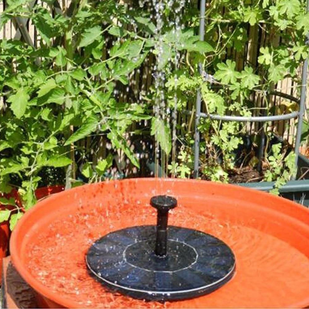 200L / H Floating Solar Power Fountain Panel Kit Garden Water Pump for Birdbath Pool Watering Wide Irrigation Pumps 7V 1.4W