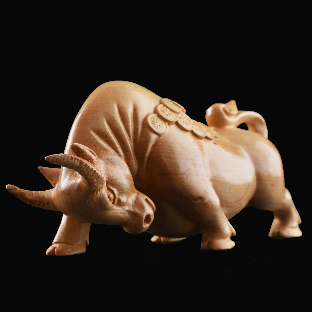 Money ox Chinsse arts wood crafts home decorations accessories ornaments collection chrismas wedding birthday gift