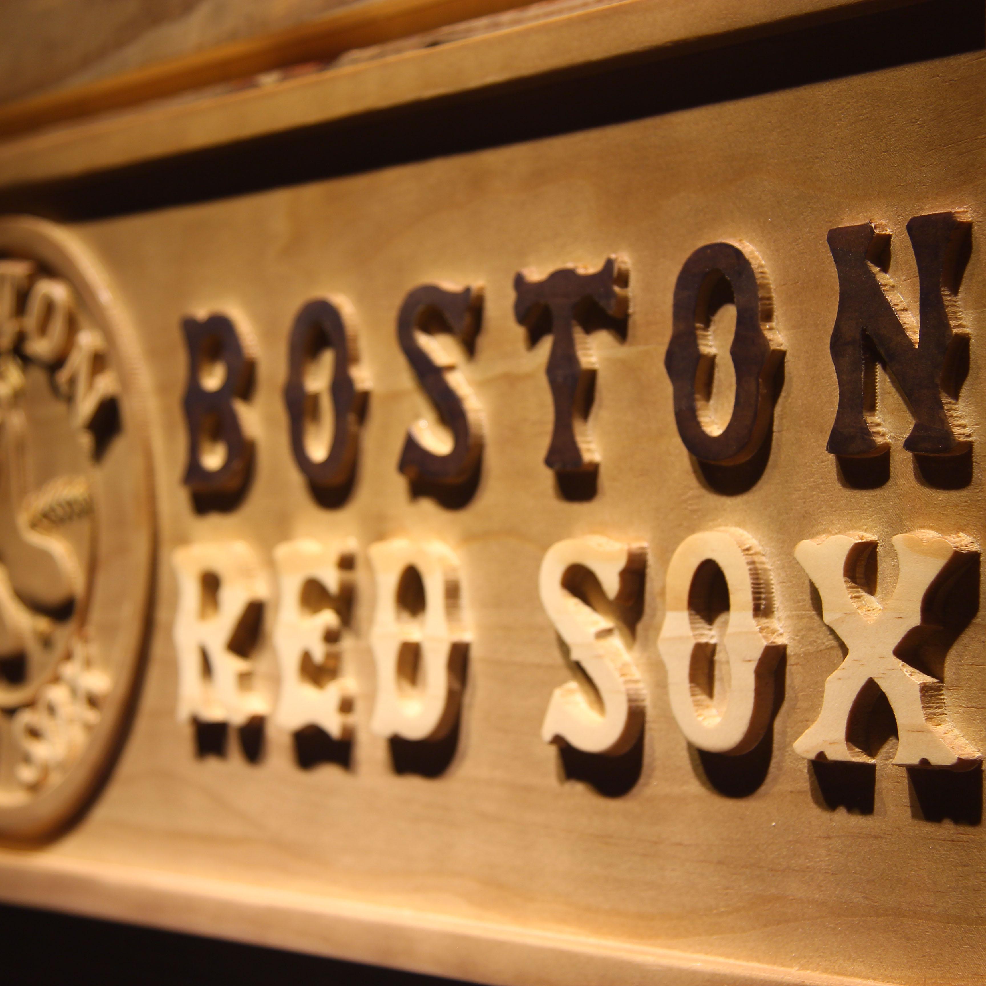 Boston Red Sox 3D Cartel De Madera en Placas y Signos de Hogar y ...