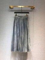 Новинка 2019 года тенсель Хлопок Деним роскошная юбка для женщин Бесплатная доставка