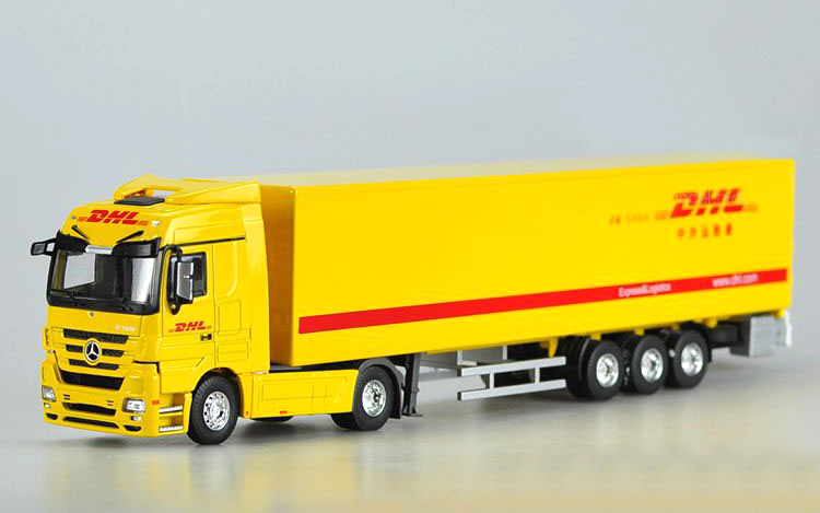 Original 1:50 DHL Container Truck Container truck alloy model Collection