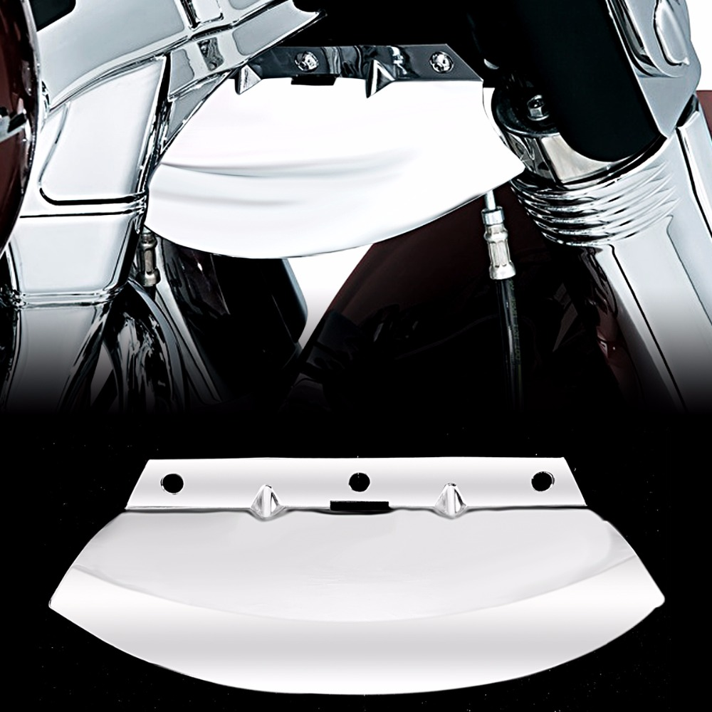 Lower Chrome Triple Tree Wind Deflector For Harley Touring Electra Street Glide Road King FLHX FLHR 1980-2013