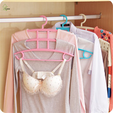 YIHONG Multi Function Four Layer Magic Clothes Rack Wardrobe Multilayer Hanging Type Plastic Anti Slip Clothes Rack A1471c