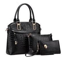 6f676f10d1 2017 Fashion Women Messenger Bags Famous Brand Women Bag Top-Handle Bags  Handbag Set crocodile