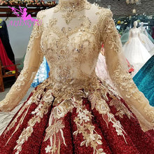 AIJINGYU Wedding Dresses With Butterfly Vintage Real Moroccan Korea Gowns Lace Ball Gown Marriage Wear Dress