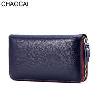 New Design Fashion Women Wallet Rear Genuine Leather Wallet Cow Leather Purse Female Casual Clutch Money