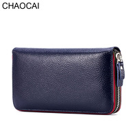 New Design Fashion Women Wallet Rear Genuine Leather Wallet Cow Leather Purse Female Casual Clutch Money