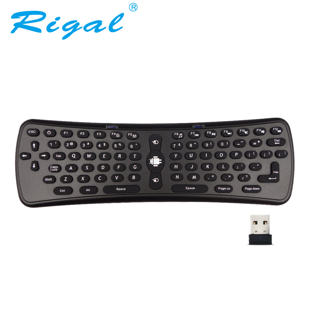 Rigal T6 Fly Air ratón 2,4g Wireless Android WiFi proyector Control remoto 6 eje para PC Android TV Box DLP proyector Android