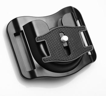 Nowa wersja 1 4 #8222 płyta Quick Release Camera Holster pas biodrowy zaczep klamrowy góra pasek wieszak na zakupy dla Canon Nikon Sony DSLR tanie i dobre opinie UJM-B