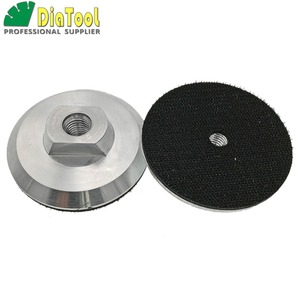 Image 4 - DIATOOL 2 pcs Diâmetro 100mm M14 Backer Para Polimento Pad De Alumínio Com Base, 4 polegadas Almofada de Volta