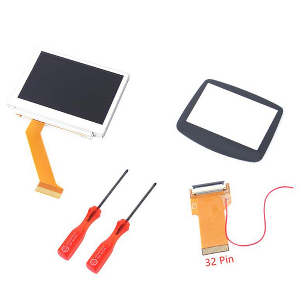 MASiKEN 32/40 Pin Cable for Nintend <font><b>Advance</b></font> MOD LCD Replacement Backlight Kit for GBA SP <font><b>AGS</b></font>-<font><b>101</b></font> Backlit Screen image