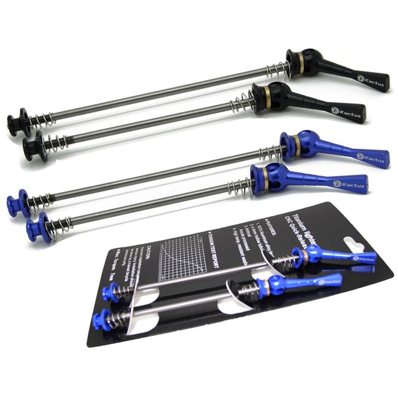 Kactus TECH 1 Pair Titanium Axle Bike Skewers CNC AL Quick Release MTB Road Bicycle Wheel Hub Skewer Lever Set