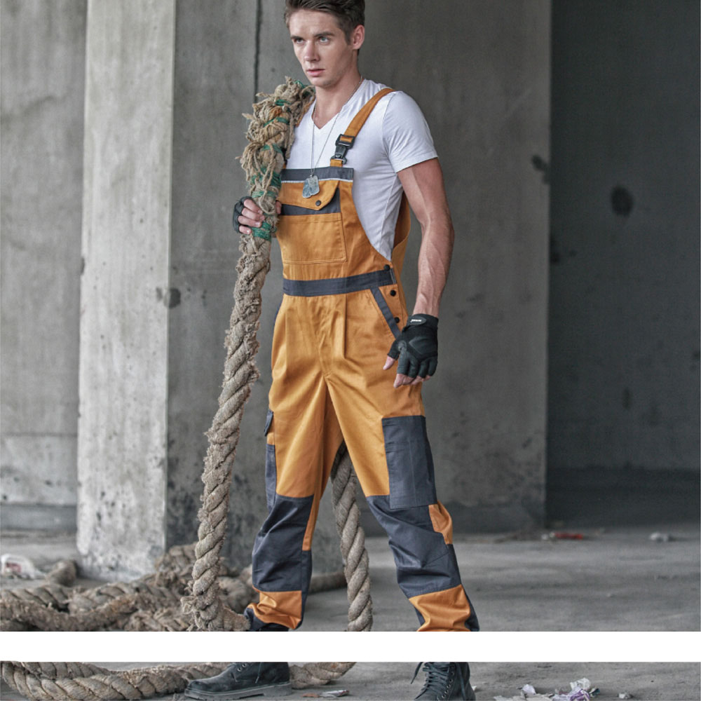Aolamegs Men bib overall casual coveralls uniform fashion locomotive dancing hip hop strap jumpsuit pants sleeveless overall
