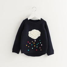 Girl's Winter Sweater With Appliques