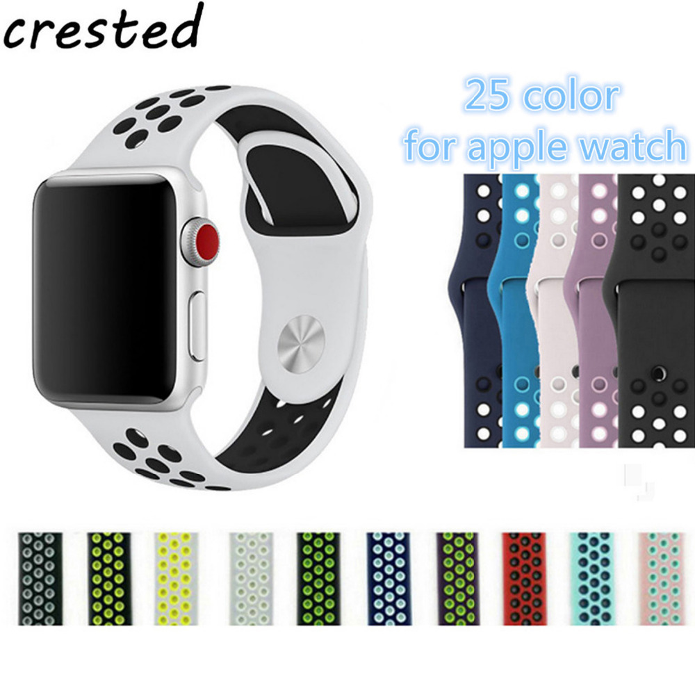 CRESTED sport silicone strap for apple watch band 42mm ...