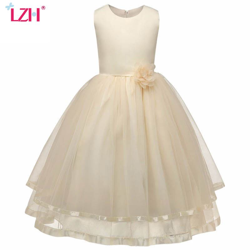 LZH Flower Girls Dress 2017 Summer Kids Girls Wedding Birthday Party Dresses For Girl Princess Dress Children Clothes 10 12 Year ретранслятор tenda a300 802 11n 300mbps 2 4ггц