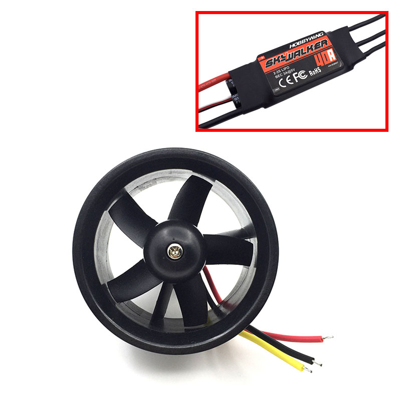 Image 3 - QX Motor Electric Ducted Fan 2611 4500KV Brushless Motor 64MM EDF 5 Blades Unit 40A esc for RC Airplane Model Accessories Parts-in Parts & Accessories from Toys & Hobbies on AliExpress