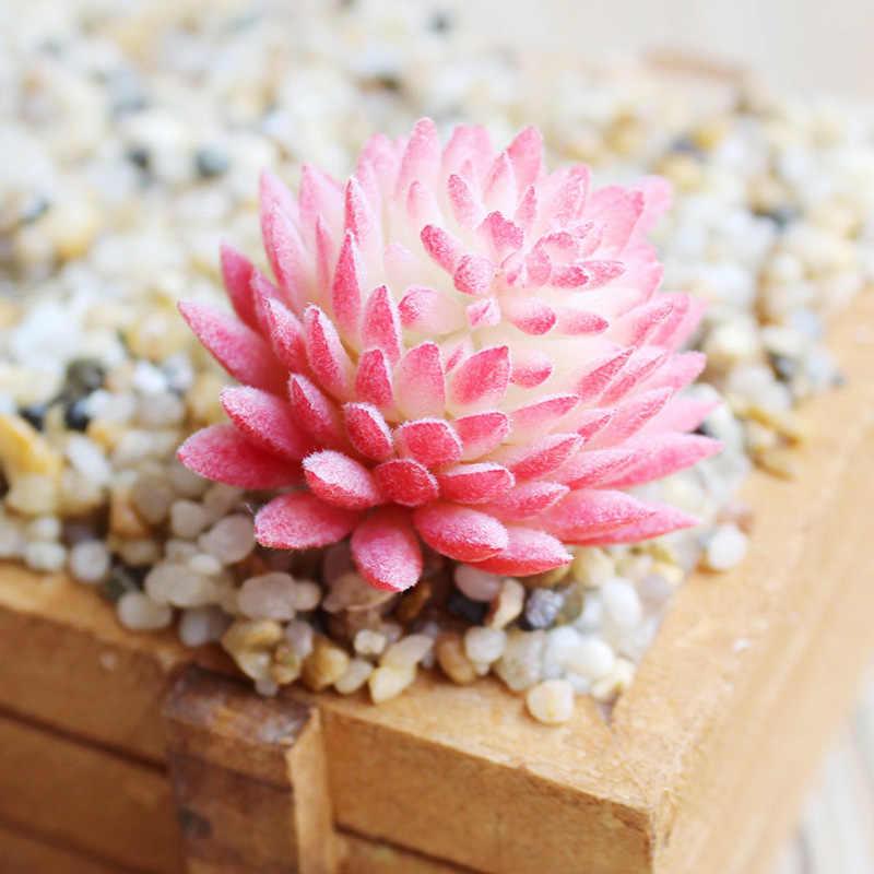 Ogród wystrój domu Mini fałszywe sukulenty rośliny Aloe sztuczne soczyste rośliny krajobraz układ wynika kwiaty ozdoby