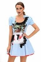 Zombie Kansas City Cô Gái Adult Halloween Costume disfraces adultosFor Phụ Nữ Hot adult costume womens Dress pháp maid trang phục