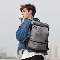 Waterproof Canvas Laptop Backpack Men Travel Bagpack Anti Theft Rucksack College Students School Bag