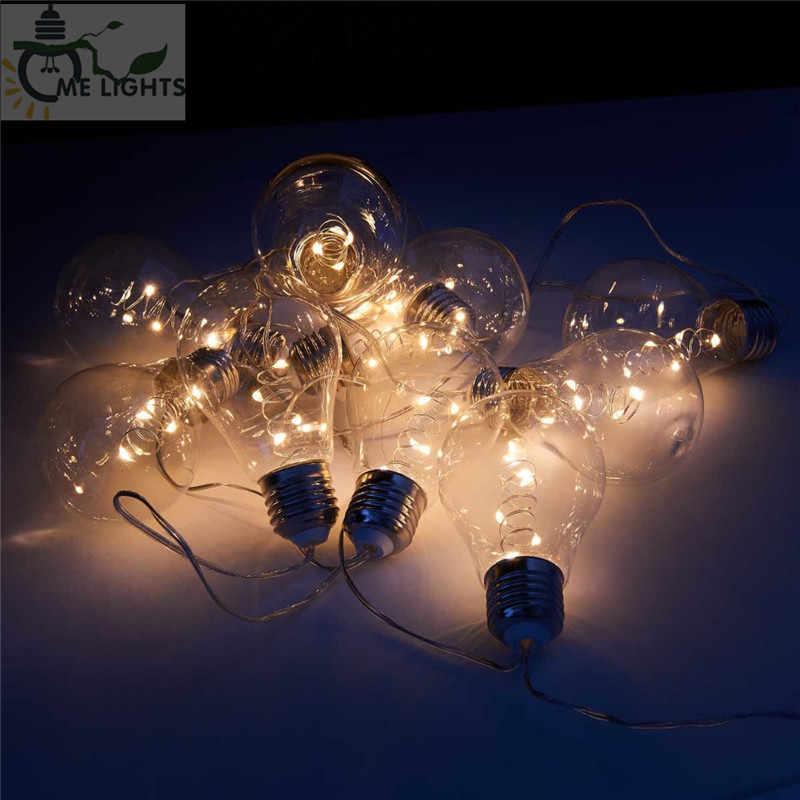 4M 10 винтажных лампочек, светодиодный гирлянд, гирлянды, вечерние гирлянды для дома, мероприятий, сада, вечерние, рождественские, свадебные украшения