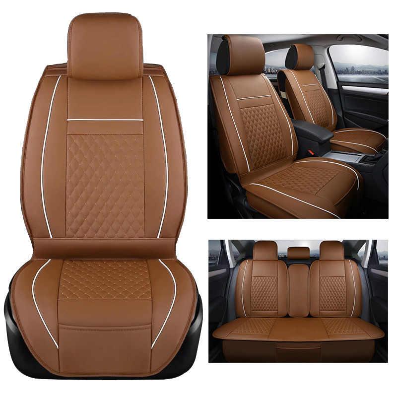 (Передний + задний) универсальные чехлы для сидений автомобиля набор для MAZDA 3 Mazda 6 CX5 CX7 323 626 M2 искусственная кожа грузовик аксессуары для интерьера
