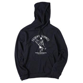 COOLMIND QI0113H cotton blend black surf cool men hoodies sweatshirts casual oversized fleece hooded sweatshirts with hat