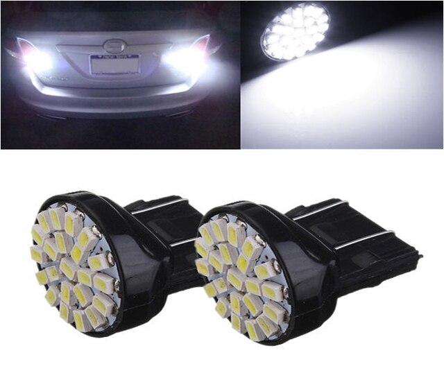 2X12 В T20 W21/5 Вт Авто Стайлинг освещения 7443 22 светодиодов SMD 3020 1206 стояночный тормоз lignt ксеноновые Белый