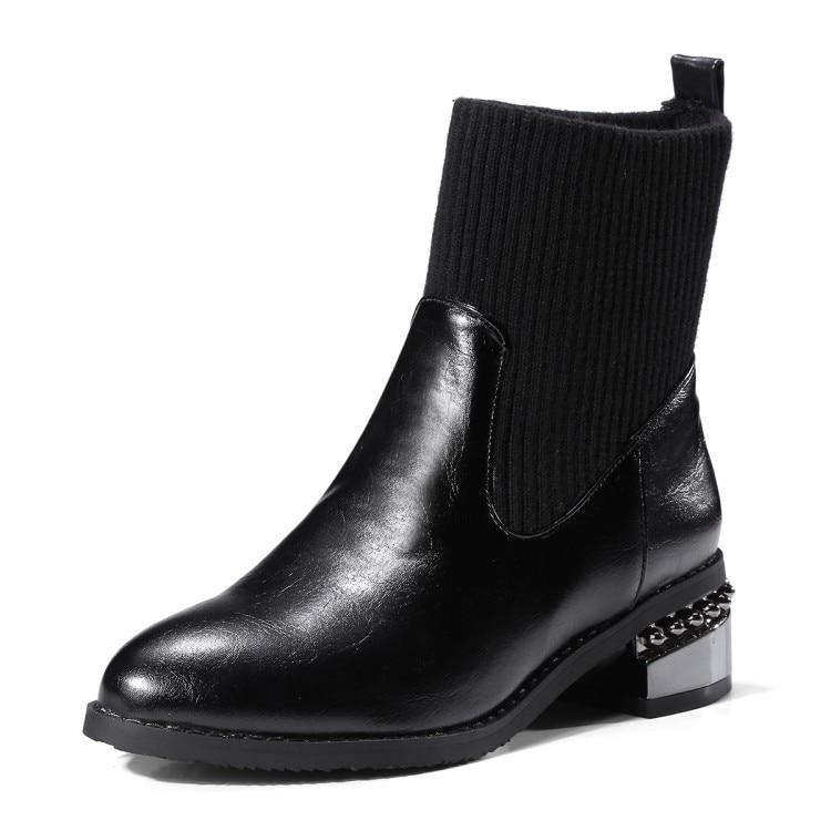 Neige Mode 46 Filles 34 Non La Épais Dame slip Démarrage Noir Thermique Plus Femmes gris Bottes De Taille Chaussures Imperméables P16tqxnz