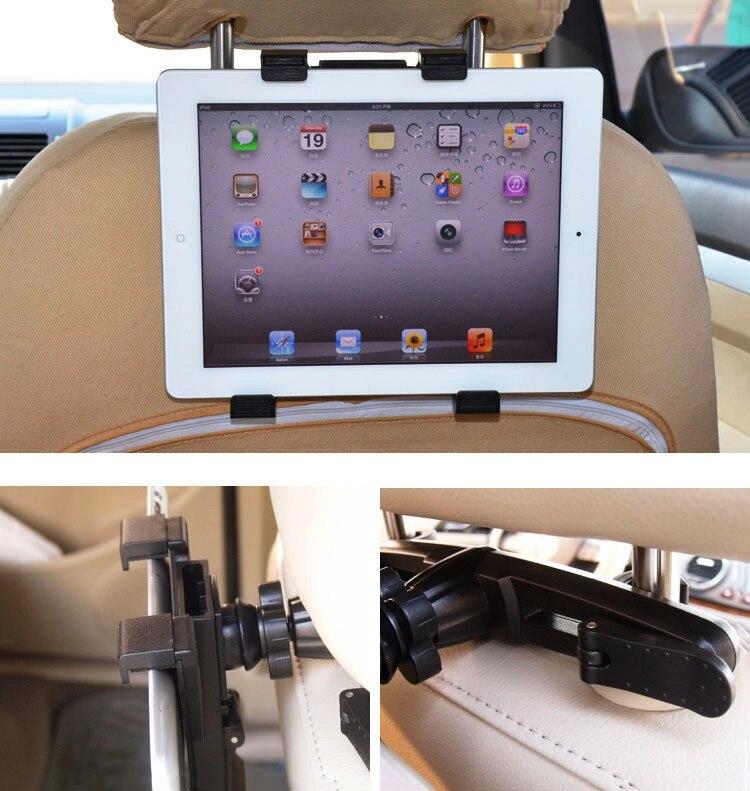 Yianerm הרכב משענת ראש טאבלט בעל 360 מעלות סיבוב המושב הר סוגר עבור iPad,Samsund Galaxy Tab,7-10 אינץ Tablet PC ו-GPS