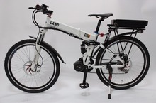48V 750W 8Fun/Bafag Mid-Drive Foldable White Frame Electric Bicycle With Ebike 48V 20Ah Lithium Rear Carrier Battery