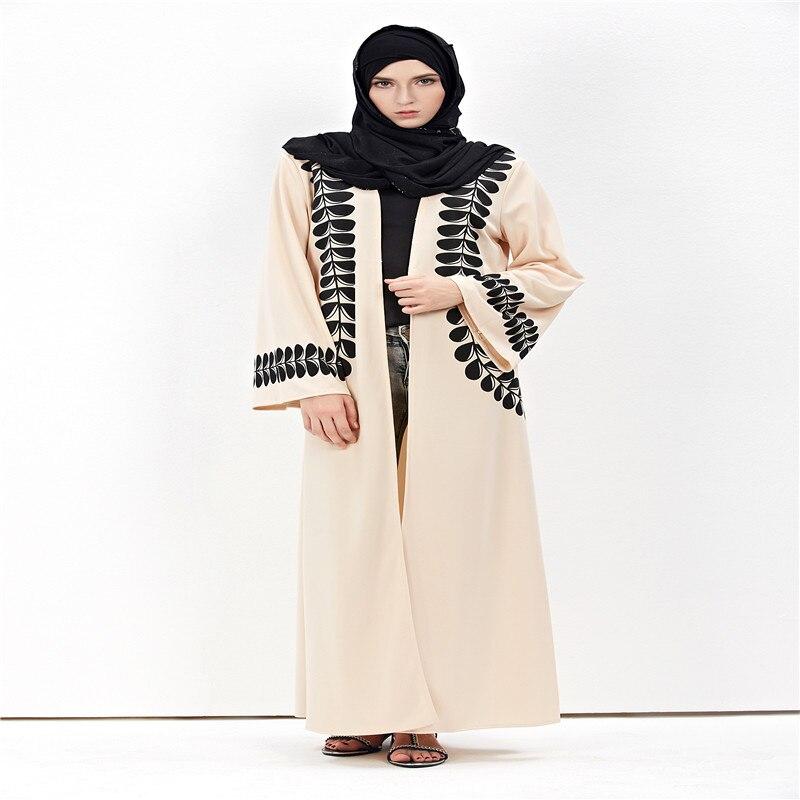 Veshja e modës për femra Cardigan në Dubai Style Abaya Jilbab - Rrobat kombëtare - Foto 2