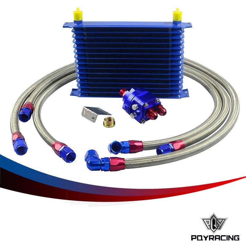 Здесь можно купить   PQY RACING- Universal Oil Cooler Kit 15 offer 10AN Aluminium Engine Transmission Oil Cooler Relocation Kit Автомобили и Мотоциклы