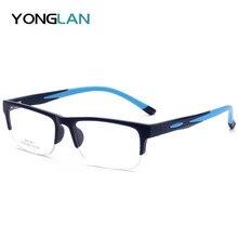Sports TR90 Plastic Optical Glasses Frame Half frame Square High Quality 2019  Myopia Clear Lens Gafas Eyewear For Men цены онлайн