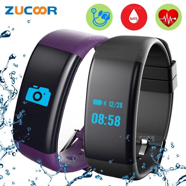 Smart Bracelet Band Ip68 Watch Blood Pressure Oxygen Heart Rate Monitor Fitness Tracker Waterproof For