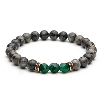 8mm Nature Stone Beads Gem Stone Charm Bracelets Bangles For Men Male Buddha Strand Bracelet Jewelry Accessories on Hand