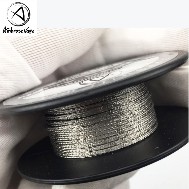 Ambrose Vape Super Alien Nichrome80 Heating Wire Electronic Cigarette Accessories For RDA RBA RTA Rebuildable Tank Atomizer SmokAmbrose Vape Super Alien Nichrome80 Heating Wire Electronic Cigarette Accessories For RDA RBA RTA Rebuildable Tank Atomizer Smok